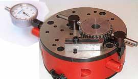 フェイスストップによる   内歯車と外歯車形状の   検査用指示付ゲージ